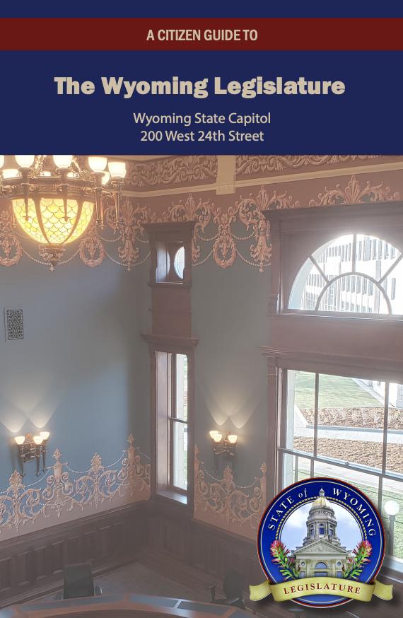 Citizen Guide to Wyo Legislature cover image